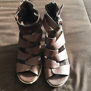 Dolce Vita for Target Brown Lace Up Sandals 8.5